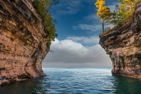 Looking Out at Pictured Rocks