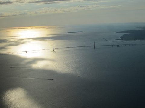 Mackinac Bridge from Above