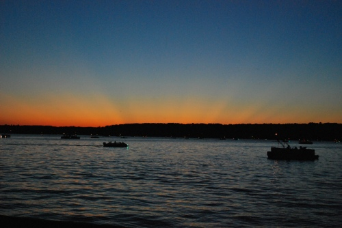 Strange Sunset on Hamlin Lake