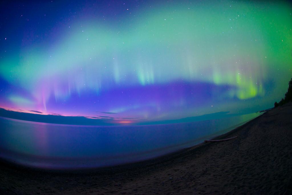 Twilit Aurora Borealis