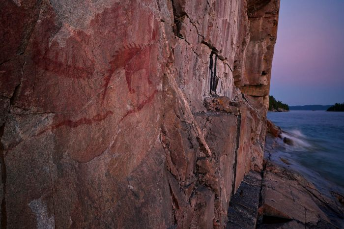 agawa pictographs lake superior provincial park ontario