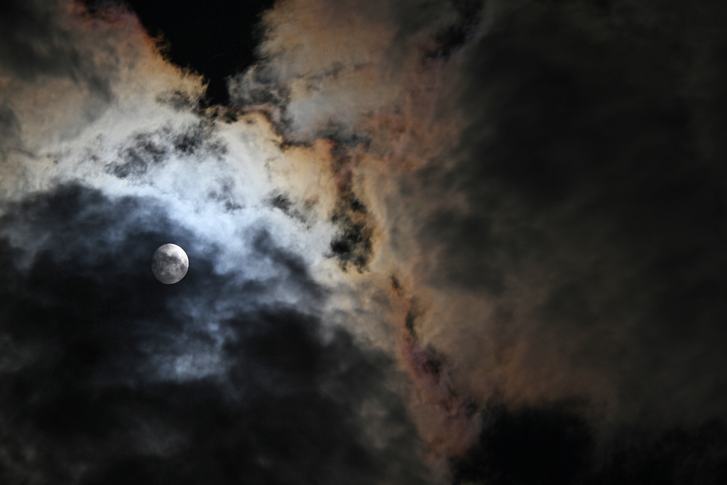 Moon and Clouds by eyesontheskies