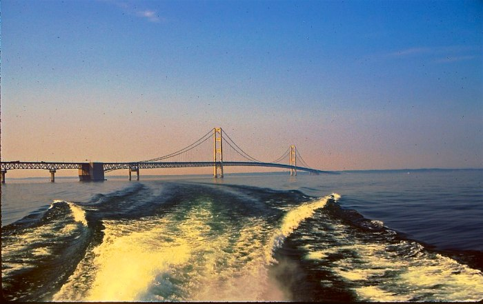 Mackinac Bridge from ferry