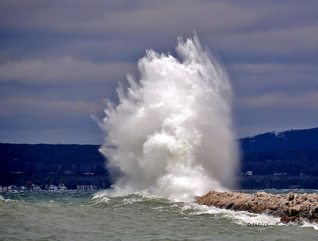 Powerful Wave at Petoskey