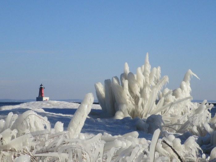 Ice is Nice Menominee Light Lighthouse