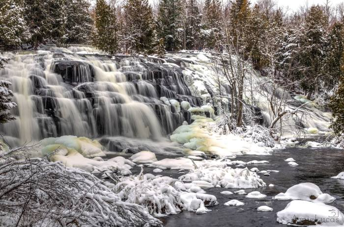 Winter at Bond Falls