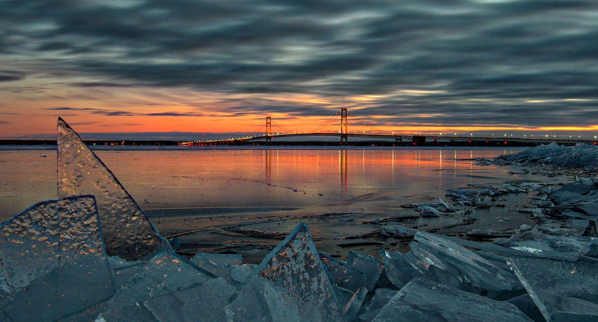 Ice in St Ignace