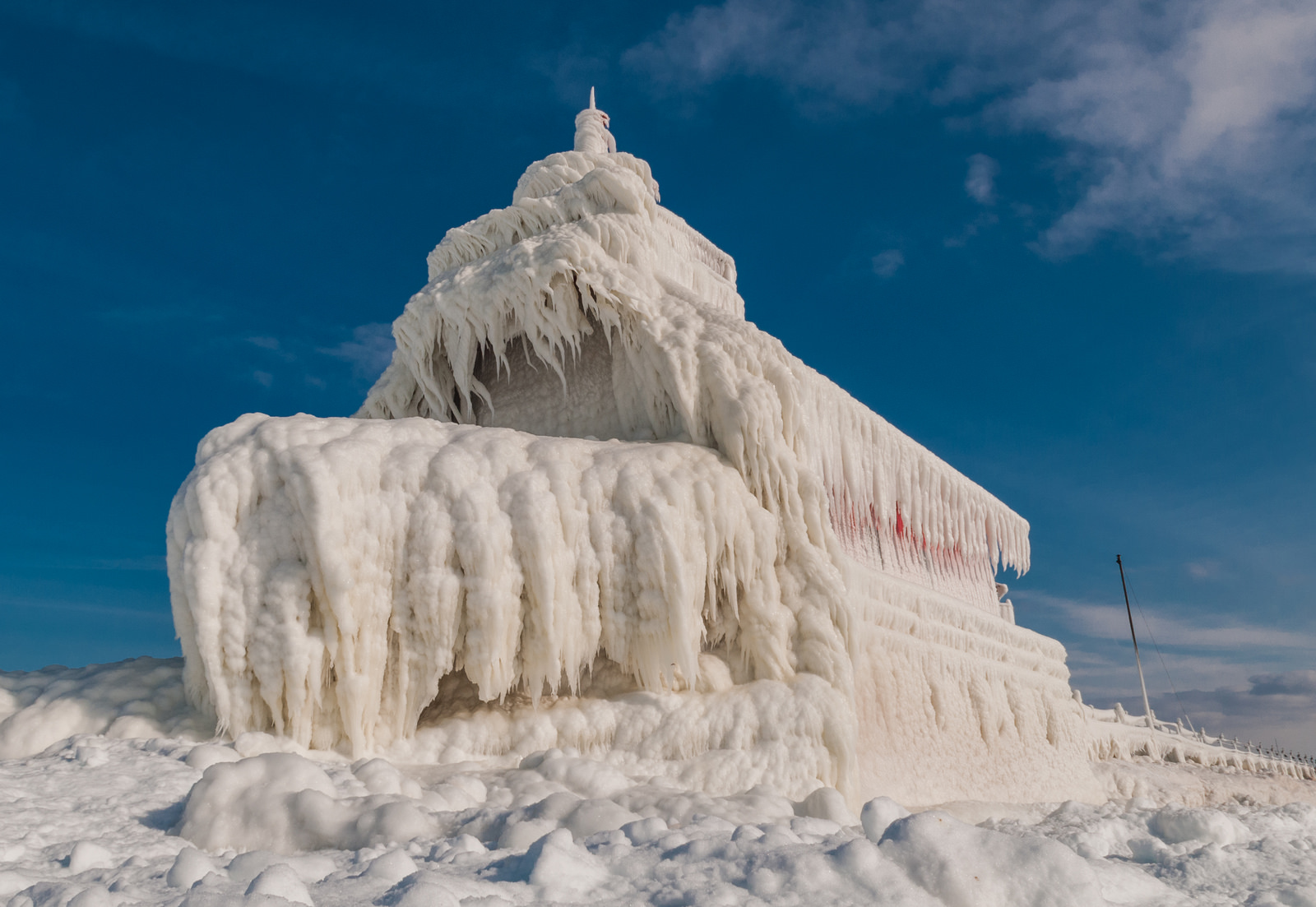 Ice Palace Grand Haven Lighthouse