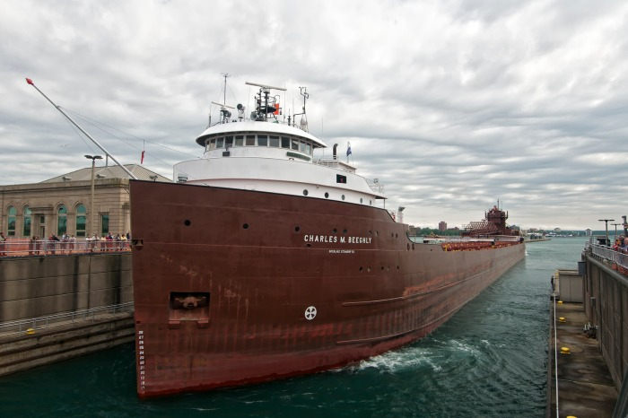 charles m. beeghly, poe lock, sault ste. marie, michigan