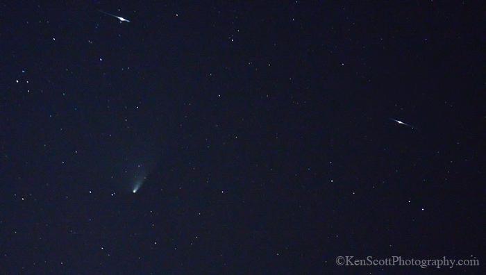 Comet Pan-Starrs ... iridium flares