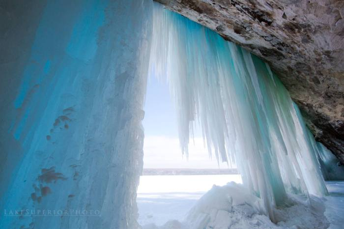 Ice Pillars on Grand Island