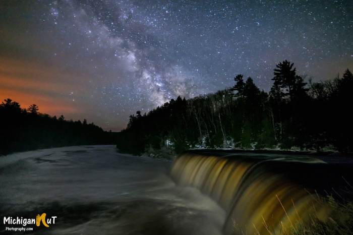 Milky Way over Tahquamenon Falls