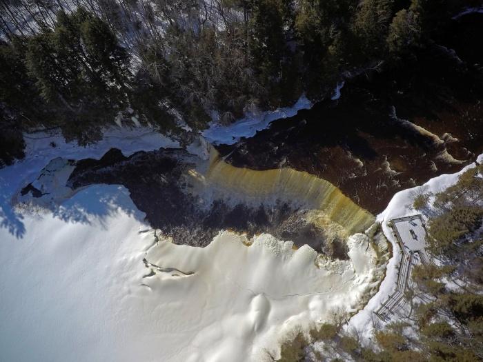 Tahquamenon Falls aerial view