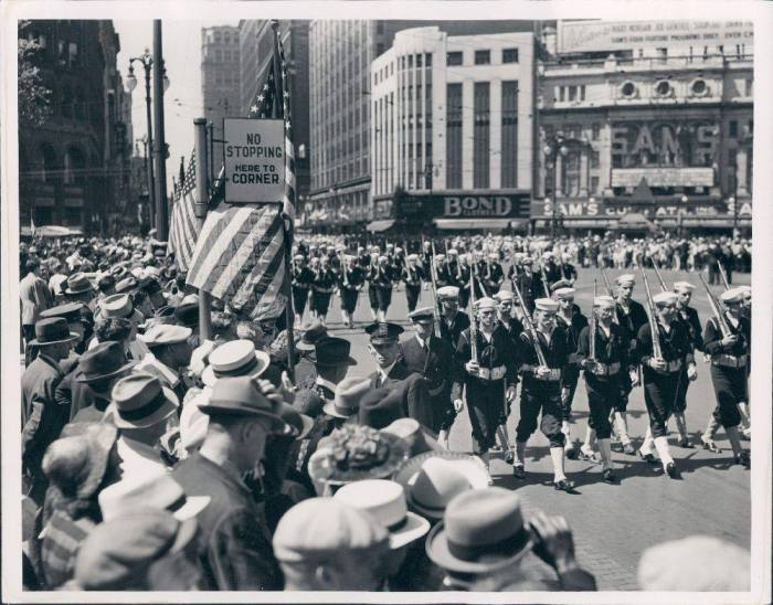 1939 Detroit Memorial Day Parade down Woodward