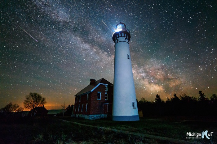 Milky Way over Au Sable Point Lighthouse