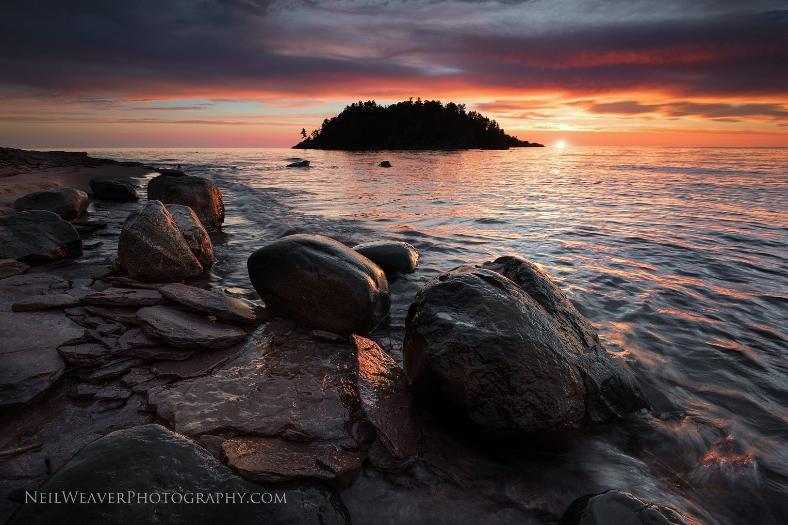Sunrise from Little Presque Isle Point
