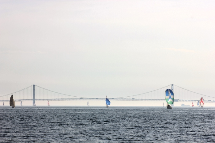 Chicago to Mac Sailboats & Mackinac Bridge