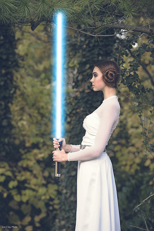 Aleah as Leia by Jon Clay