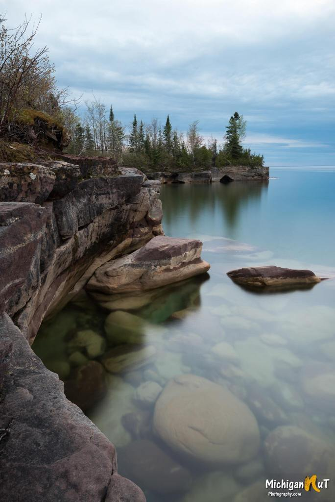 Peaceful Moment at Lake Superior near Munising by Michigan Nut Photography