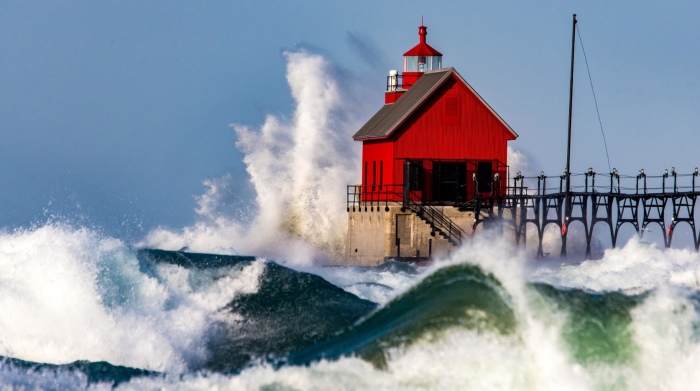 Wild Day on Lake Michigan by Bob Gudas