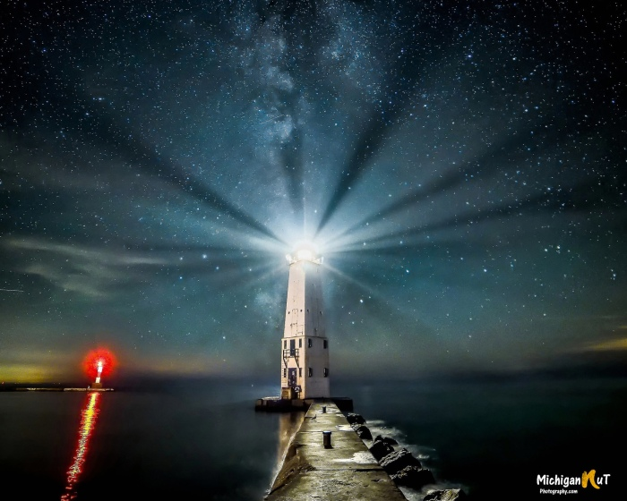 """Midnight Light"" Frankfort, Michigan by John McCormick"