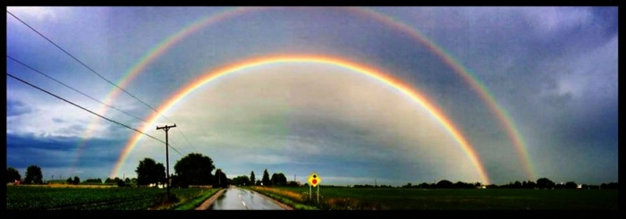 Double rainbow! by Tom