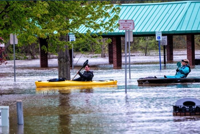 Kayaking During The Flood by Charles Bonham