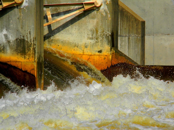 Rusty Dam and Spillway on the Huron River by Ann