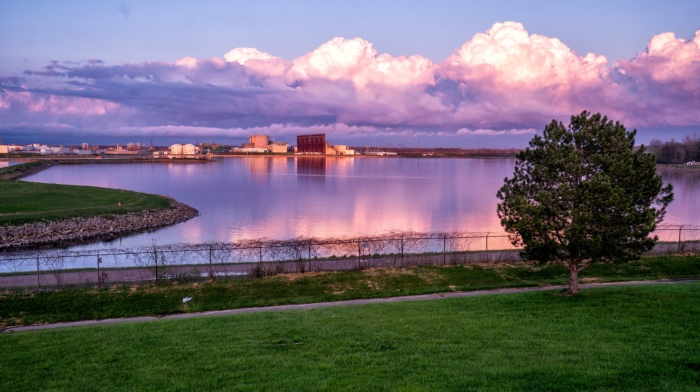 Sunset at the Cloud Factory by Charles Bonham