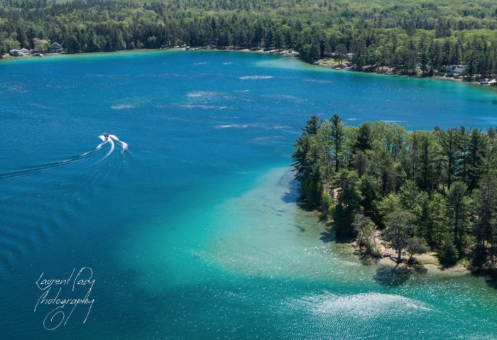 Clear Lake Montmorency County Michigan by Laurent Fady