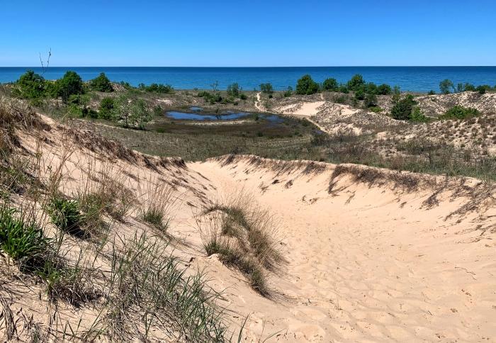 Heading down to the beach - Warren Dunes by Mark Swanson