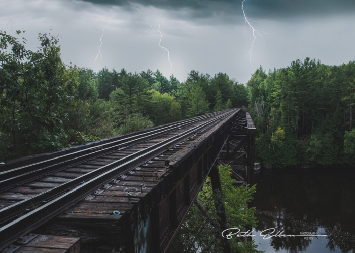 Lightning on the Rails by Fire Fighter's Wife