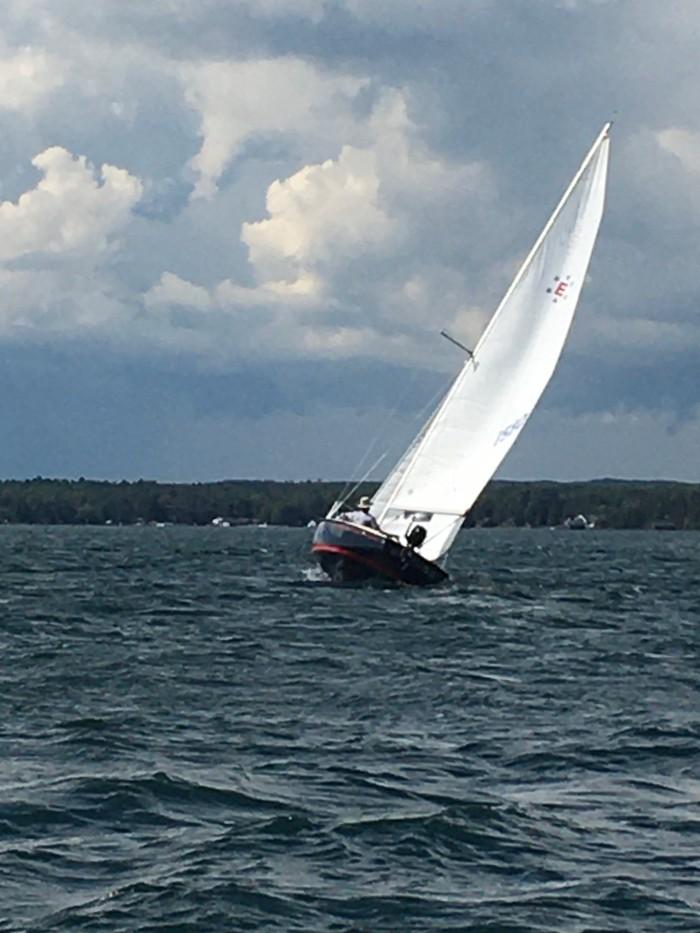Sailing the Les Cheneaux by Susan H