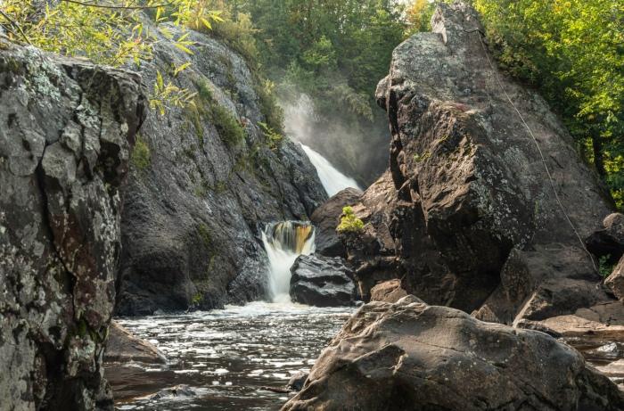 Gabbro Falls on the Black River in Gogebic County Michigan by Tom Clark