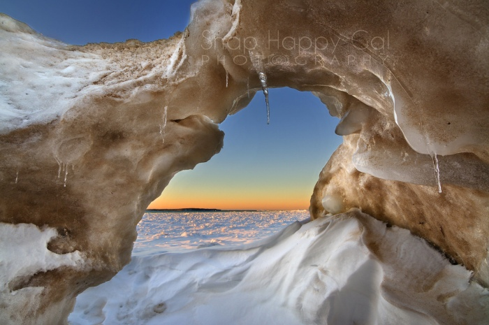 Ice Cave Sunset by Heather Higham