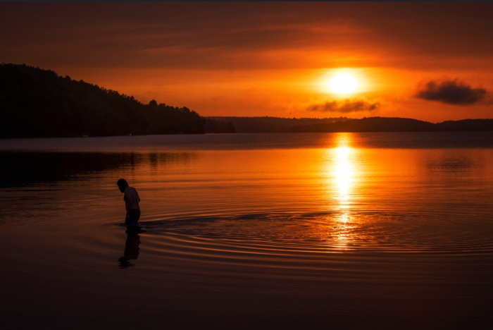 Lake Michigamme Sunrise by Gary