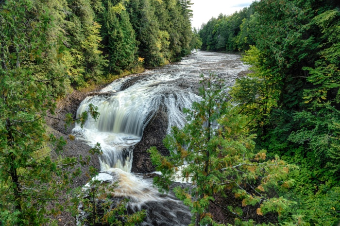 Potawatomi Falls on the Black river in Gogebic County Michigan by Tom Clark