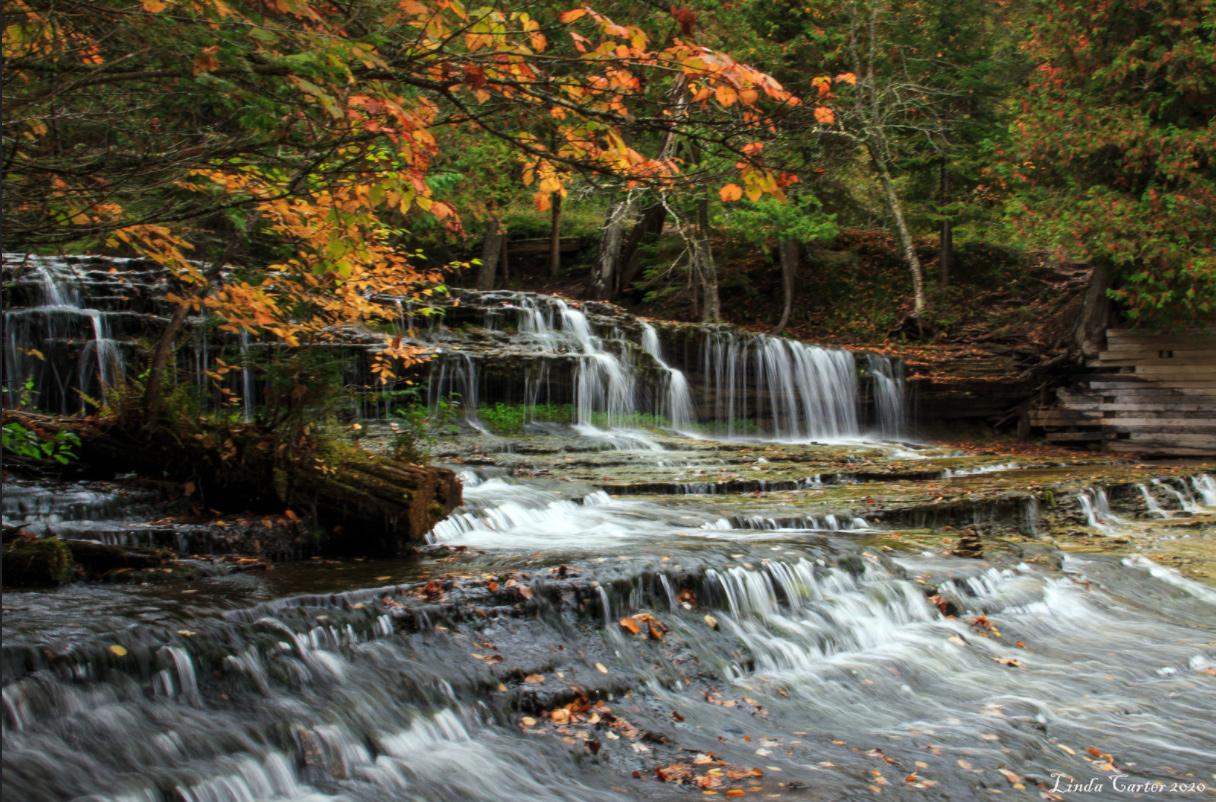 AuTrain Falls U.P. Michigan by Linda Carter