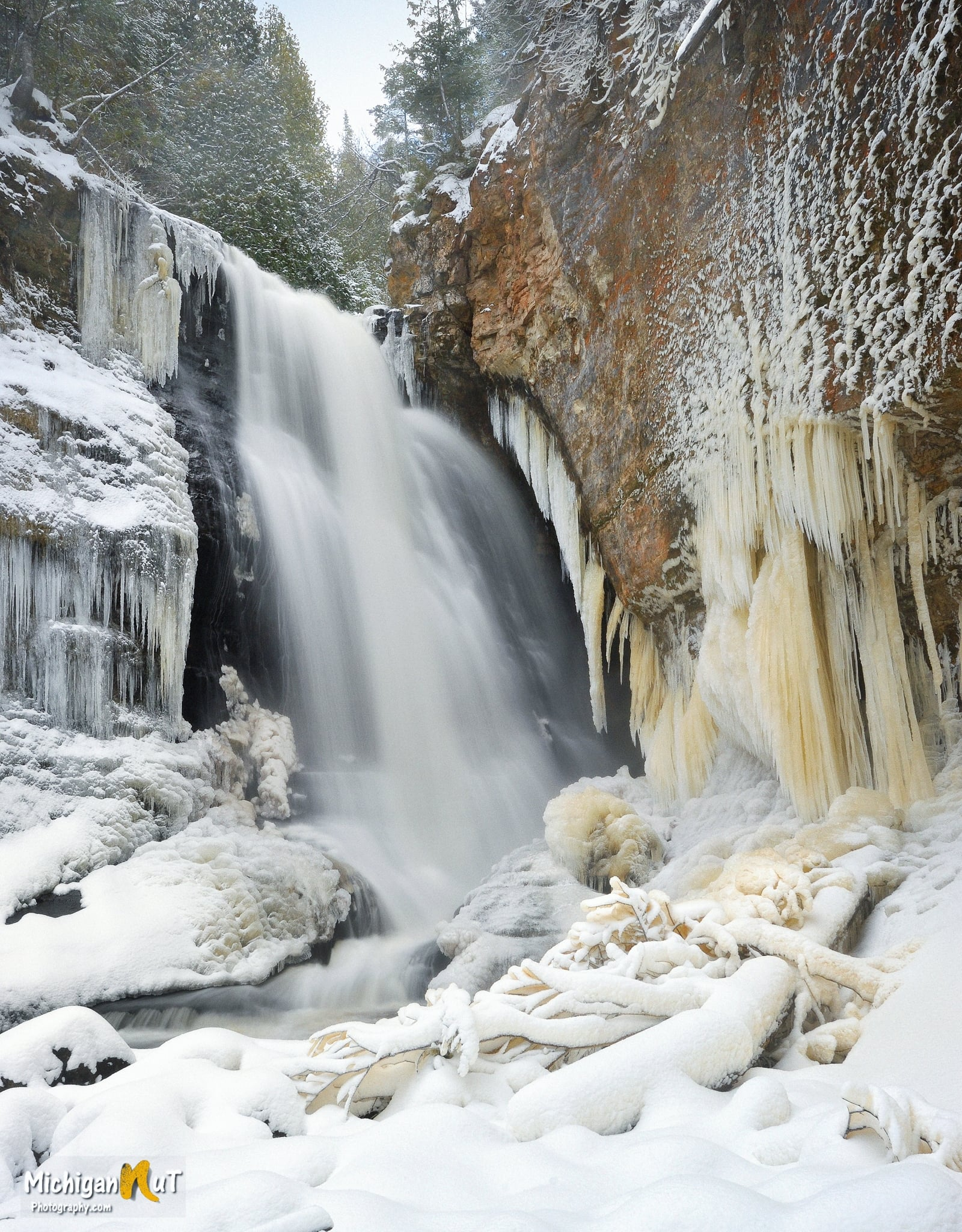 Early Winter at Miners Falls by Michigan Nut Photography