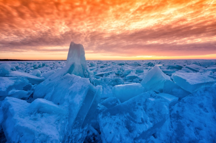 Push Ice Lake Michigan by Charles Bonham
