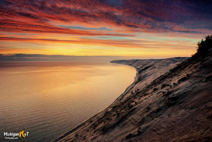Grand Sable Dunes Sunrise by Michigan Nut Photography