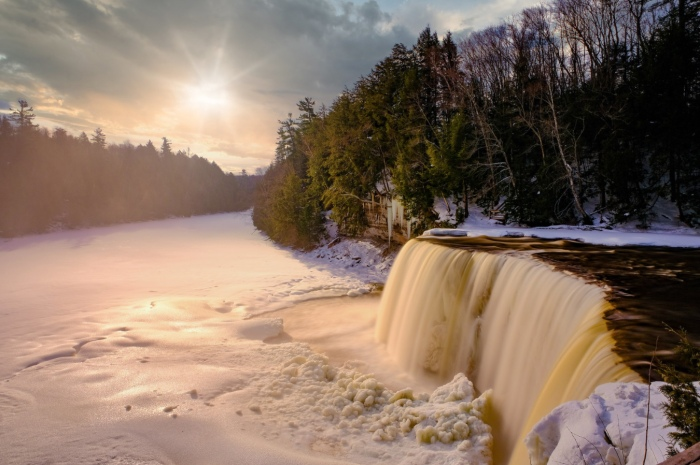 Sunrise at Tahquamenon by Dan Gaken