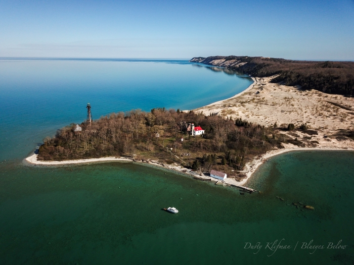 South Fox Island Light Station by Dusty Klifman / Blueyes Below