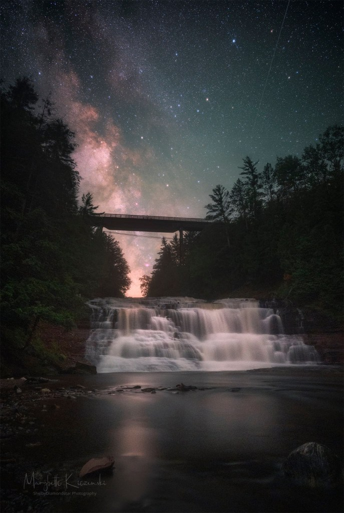 Agate Falls under the Milky Way by Shelbydiamondstar Photography