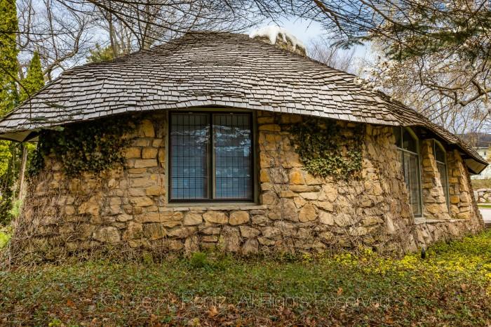 Mushroom House in Charlevoix Michigan by Lee Rentz