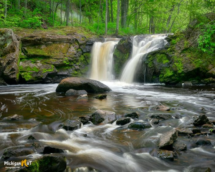 Root Beer Falls near Wakefield by Michigan Nut Photography