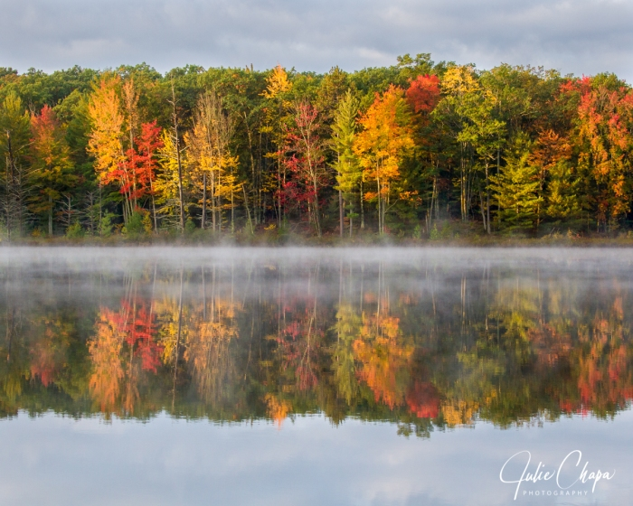 Mirror Lake in Autumn by Julie Chapa