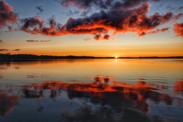 Sunrise Reflection Bear Lake Michigan by Mike Carey