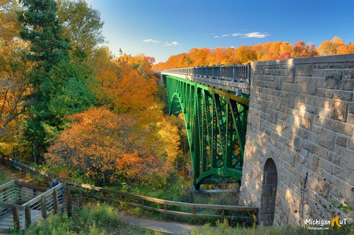 Peak Colors at the Cut River Bridge by Michigan Nut Photography